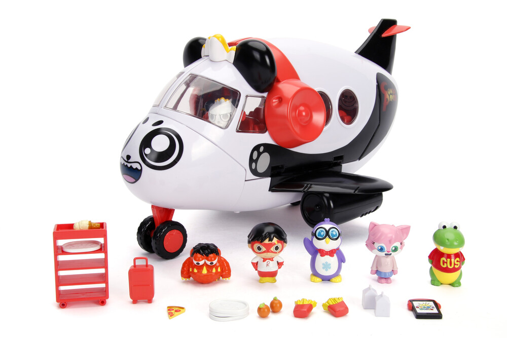 - Ryan's World Combo Panda Airplane Set W/6 Figures