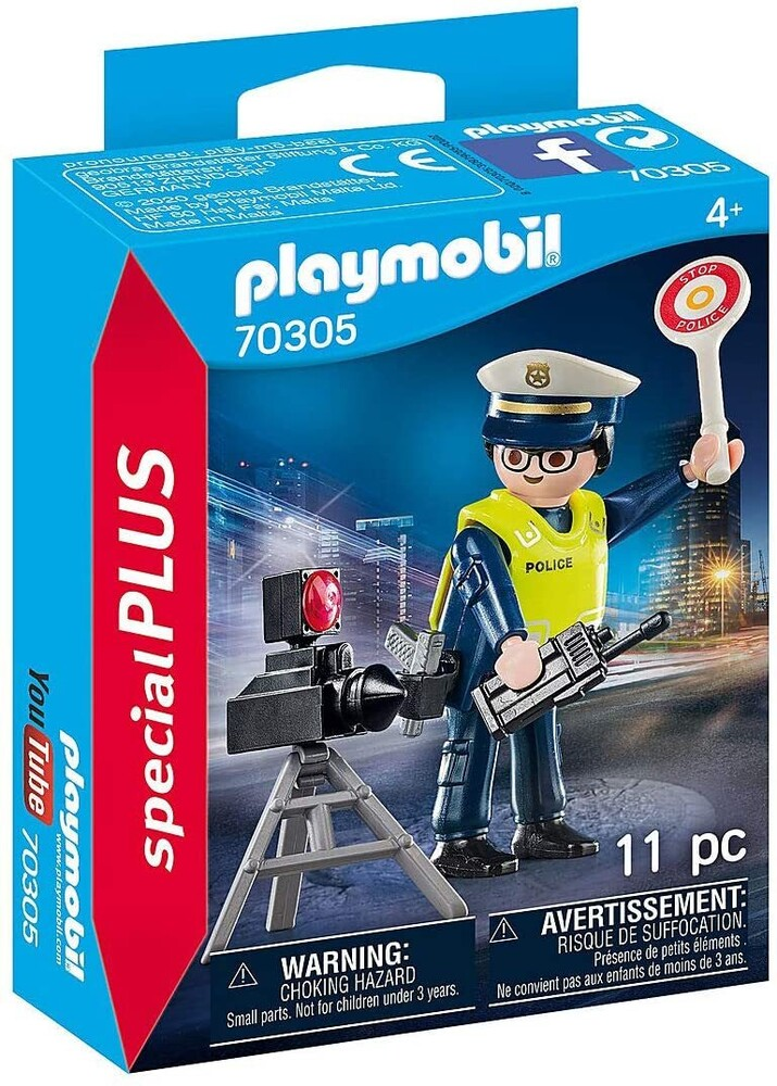 - Special Plus Police Officer With Speed Trap (Fig)