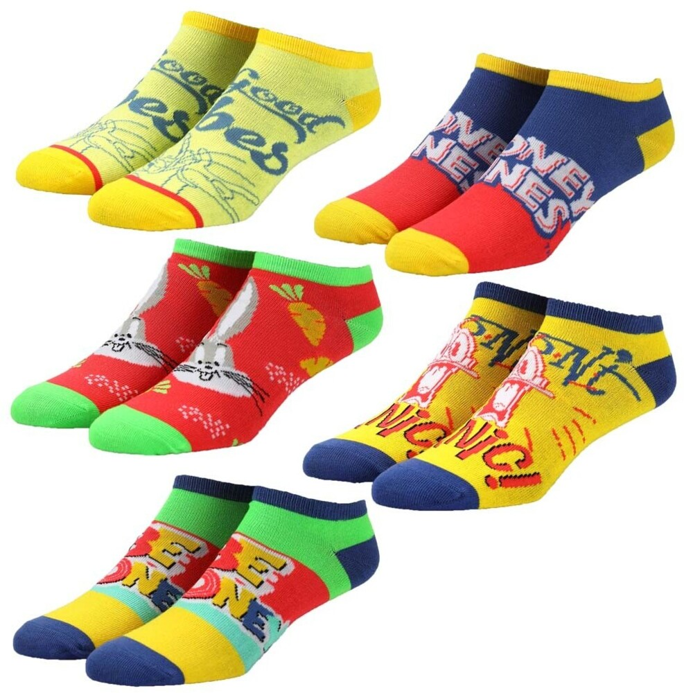 - Looney Tunes Classic 5 Pk Ankle Socks Womens 5-10