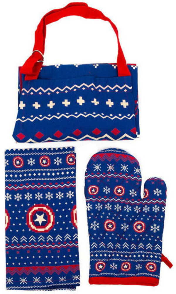 - Captain America Holiday Kitchen Textile Set Of 3