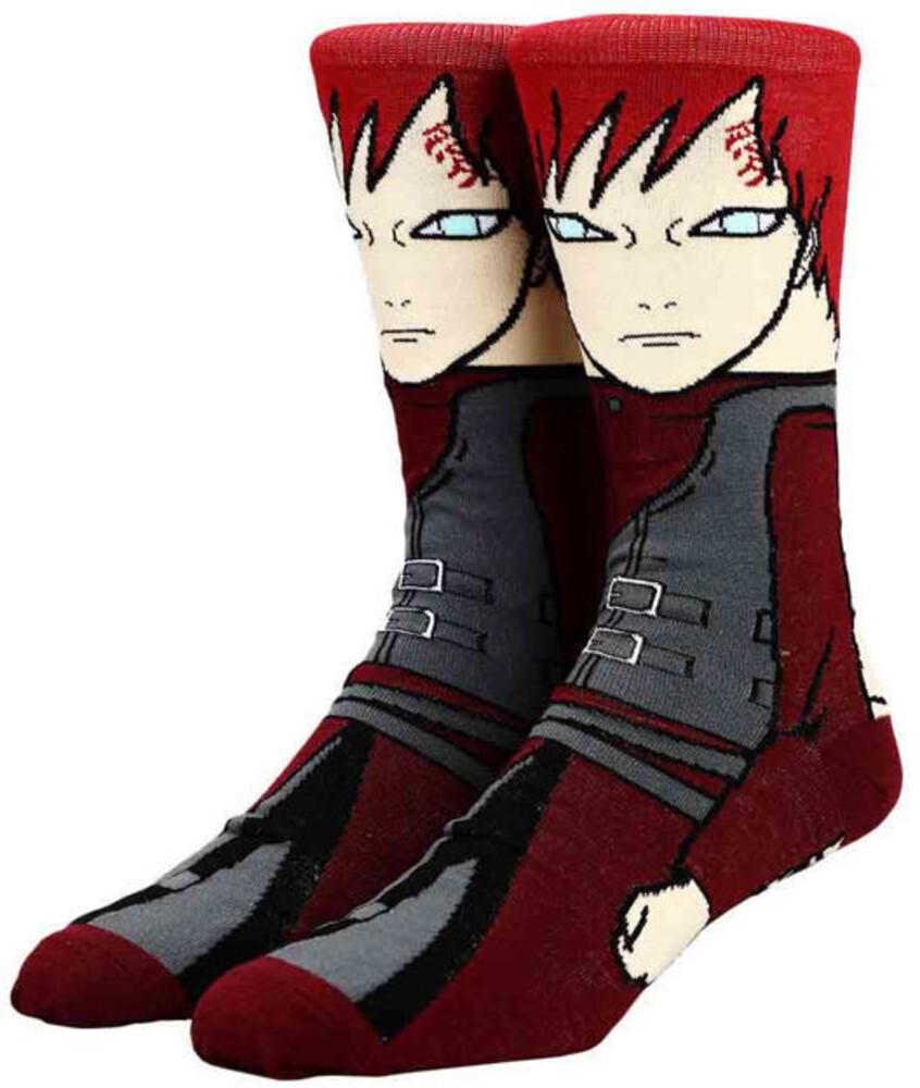 Naruto Gaara 1 Pair 360 Character Socks 8-12 - Naruto Gaara 1 Pair 360 Character Socks 8-12