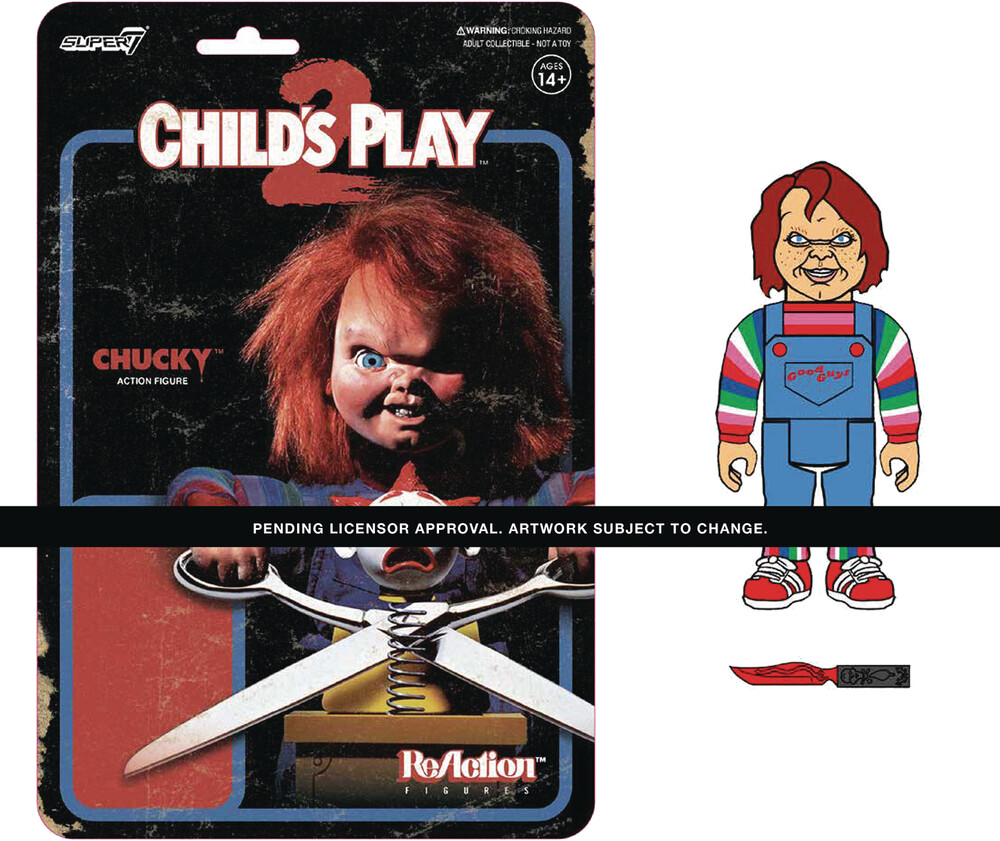 Child's Play Reaction Wave 1 - Evil Chucky - Super7 Child's Play ReAction Wave 1 - Evil Chucky