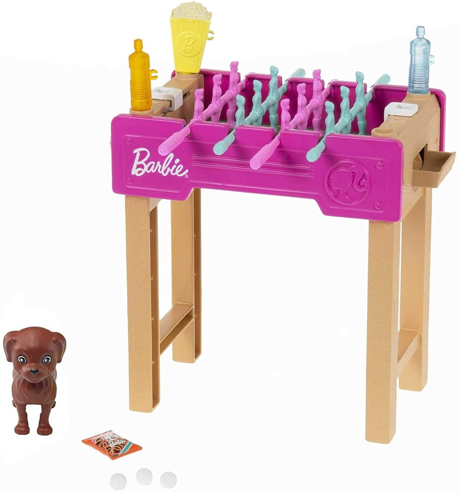 - Mattel - Barbie Foosball Table and Pet Mini Playset