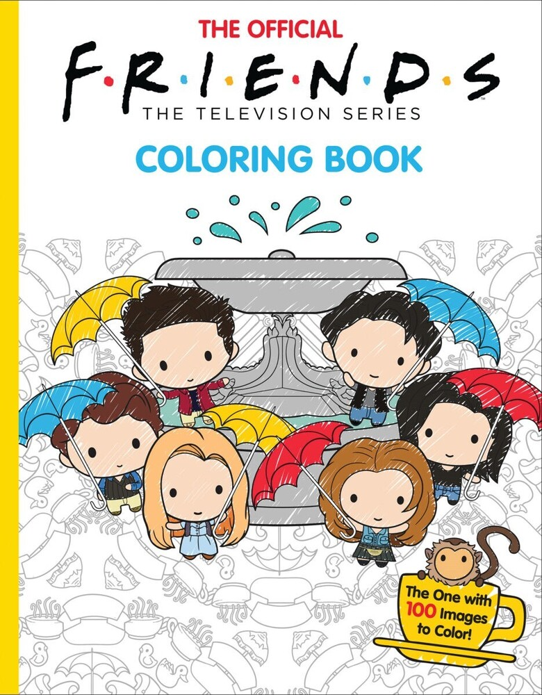 Scholastic - Official Friends Coloring Book (Ppbk) (Ill)