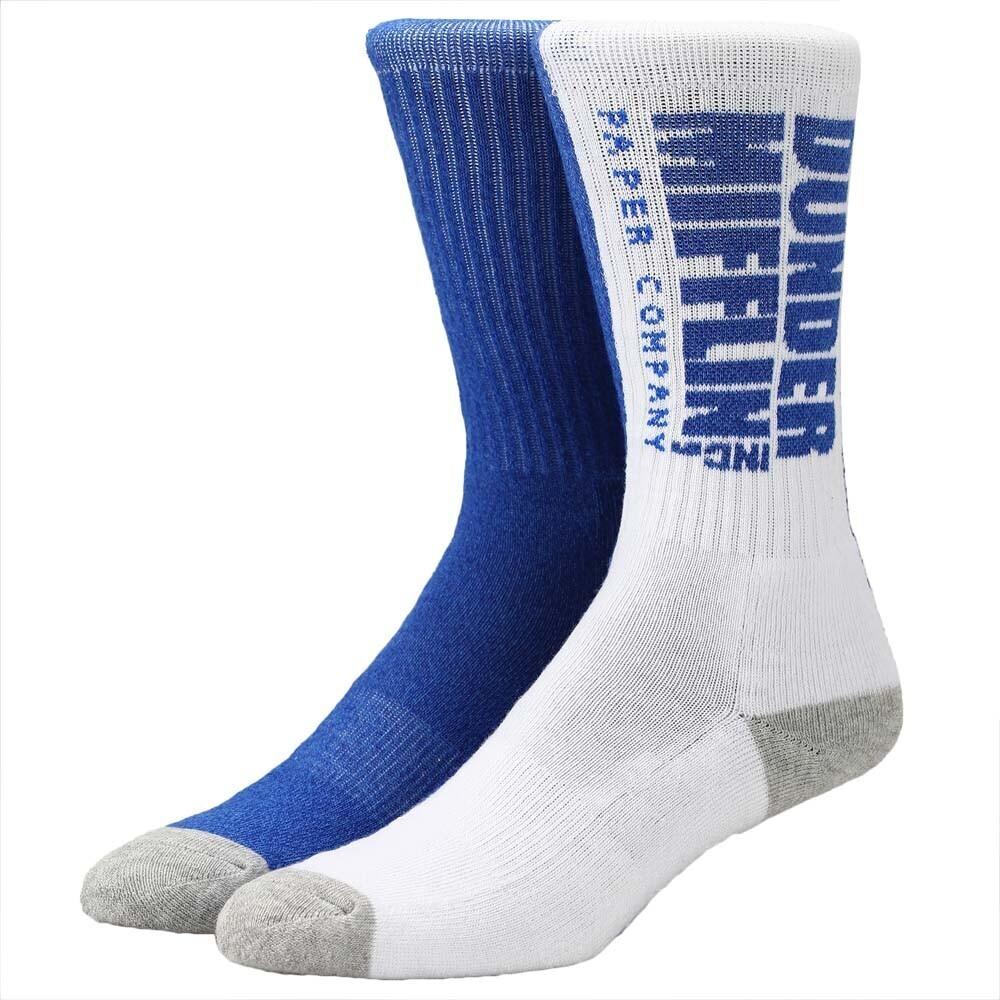 - Office Dunder Mifflin Paper Split Crew Socks 8-12