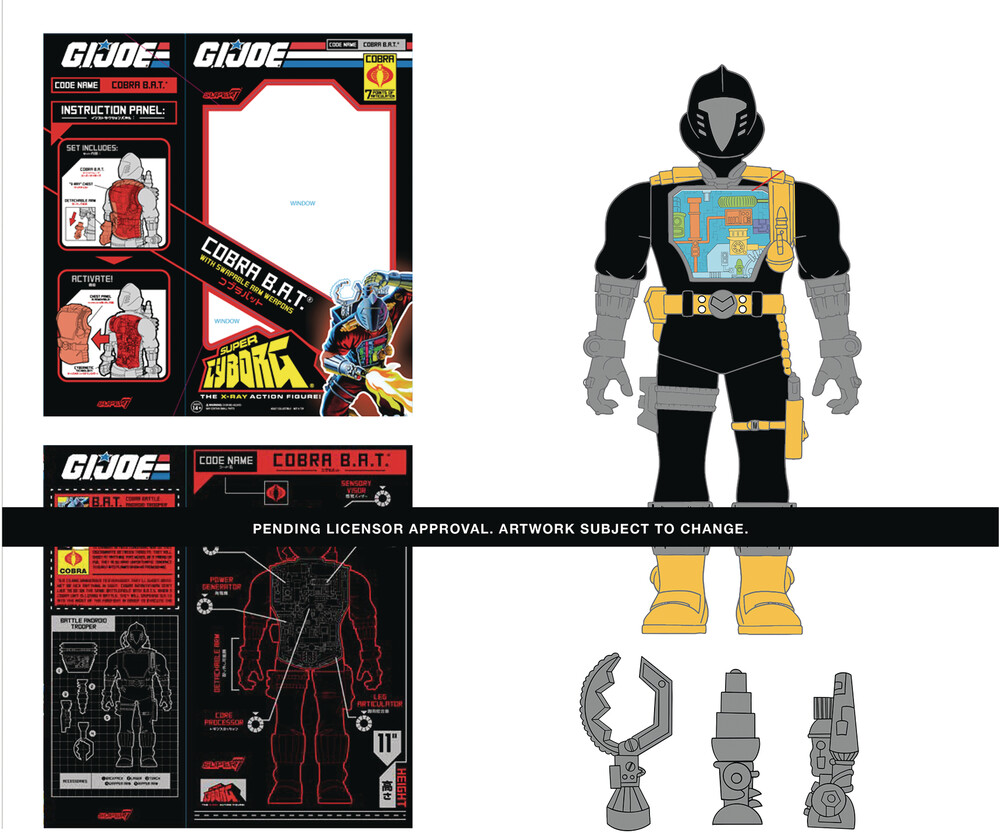 G.I. Joe Cyborg - Bats (Original) - Super7 - G.I. Joe Cyborg - Bats (Original)
