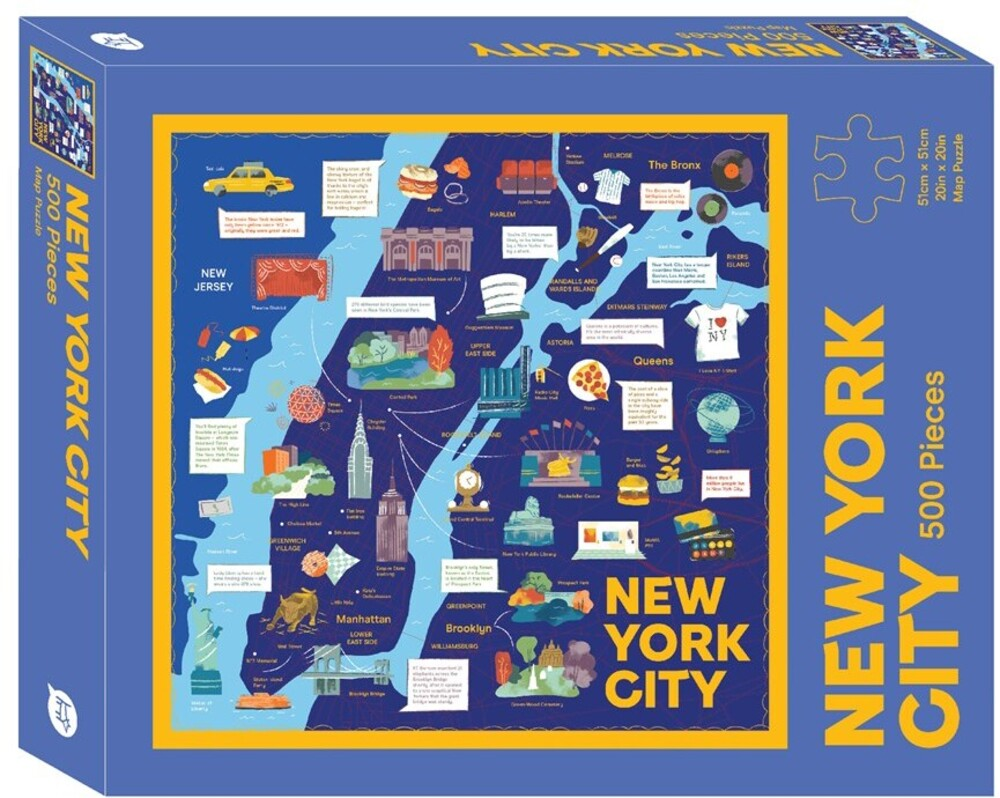 - New York City Map: 500 Piece Jigsaw Puzzle