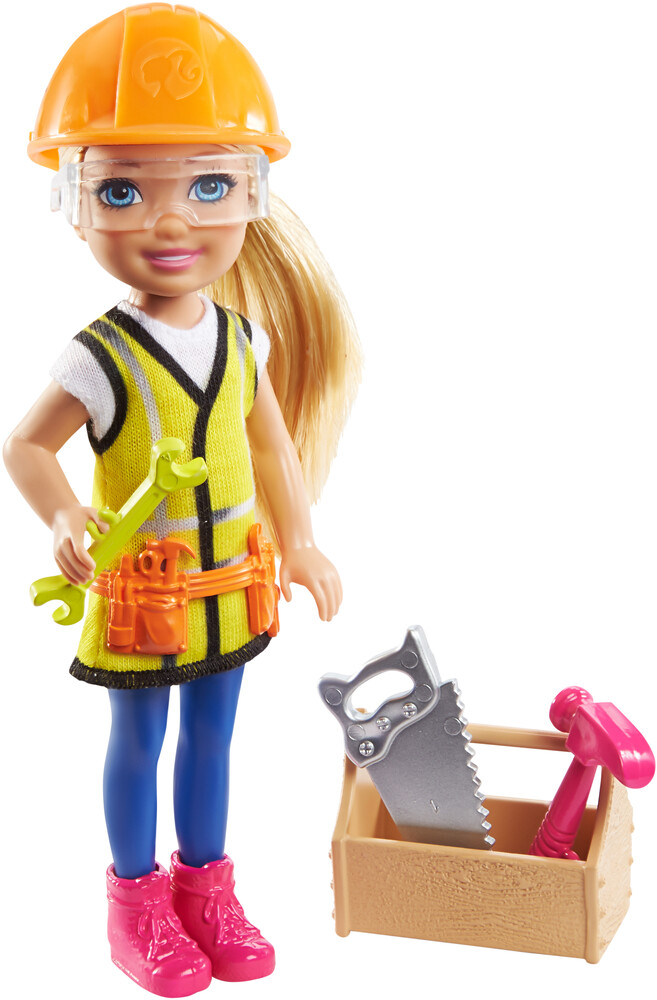 - Mattel - Barbie Chelsea Can Be Construction Doll and Playset