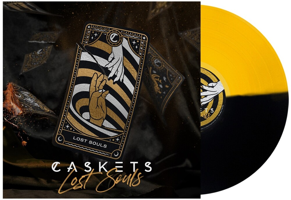 Caskets - Lost Souls (Yellow & Black Split) (Blk) [Colored Vinyl]