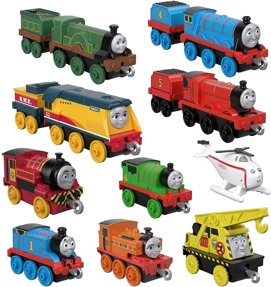 Thomas and Friends - Thomas Push Along Engine 10 Pack (Trn)