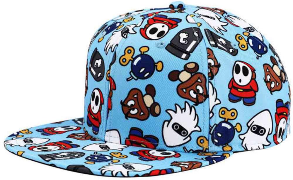 Super Mario Enemies Aop Flat Bill Snapback Bb Cap - Marvel What If? 5 Pair Ankle Socks 8-12 (Hat)