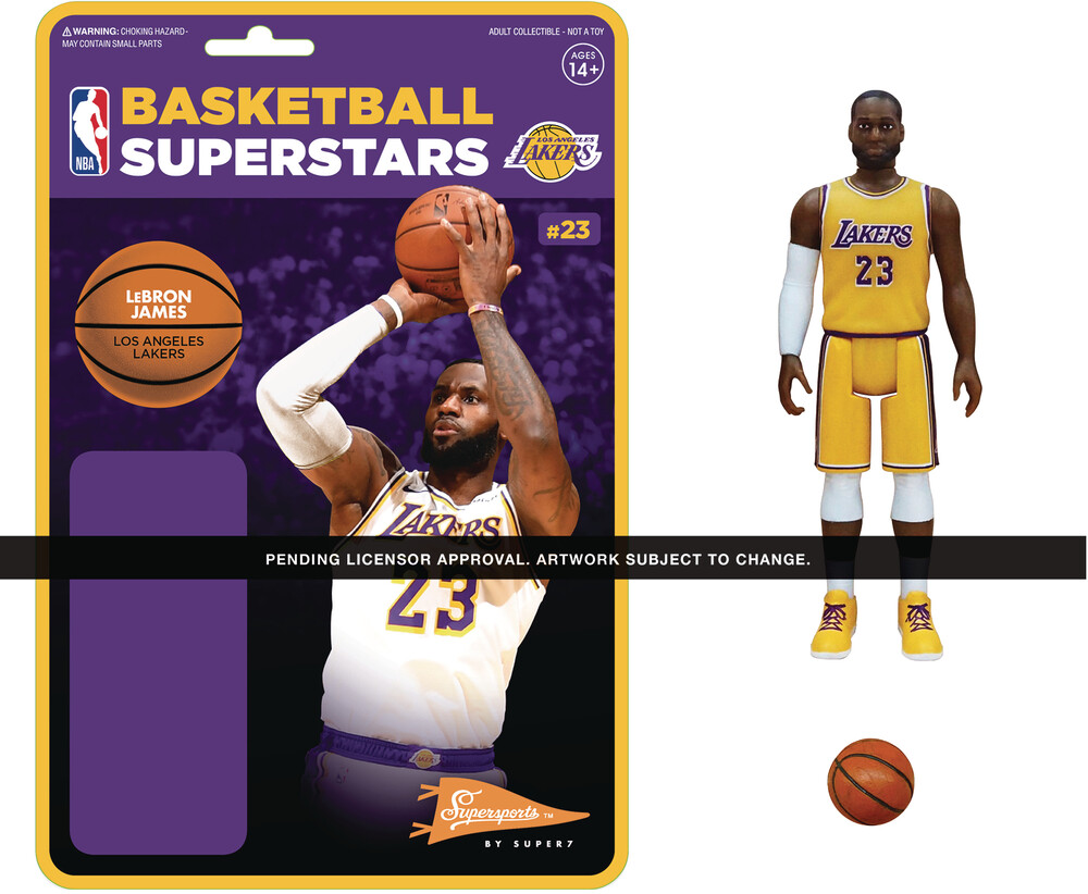 NBA Reaction Figure - Lebron James (Lakers) - Super7 - NBA ReAction Figure - Lebron James (Lakers)