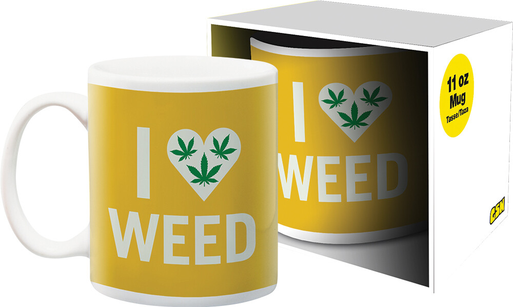 Weed I Heart Weed 11Oz Boxed Mug - Weed I Heart Weed 11oz Boxed Mug