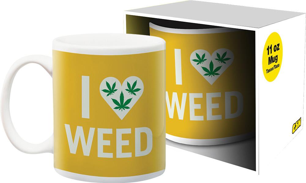 Weed I Heart Weed 11Oz Boxed Mug - Weed I Heart Weed 11oz Boxed Mug