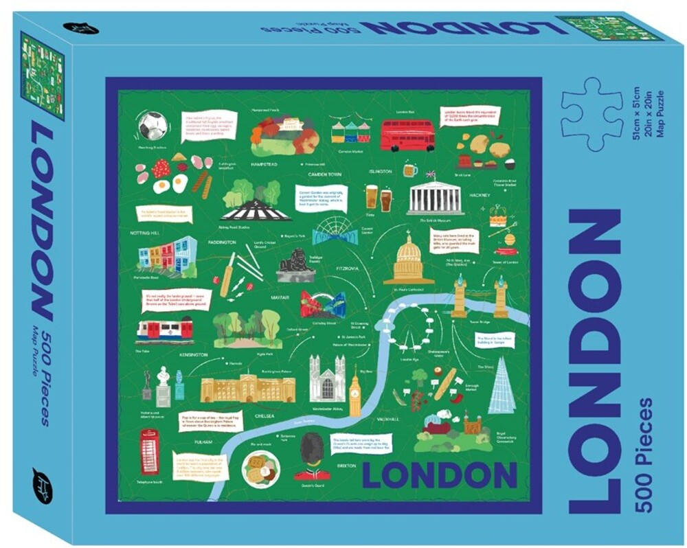 - London Map: 500 Piece Jigsaw Puzzle