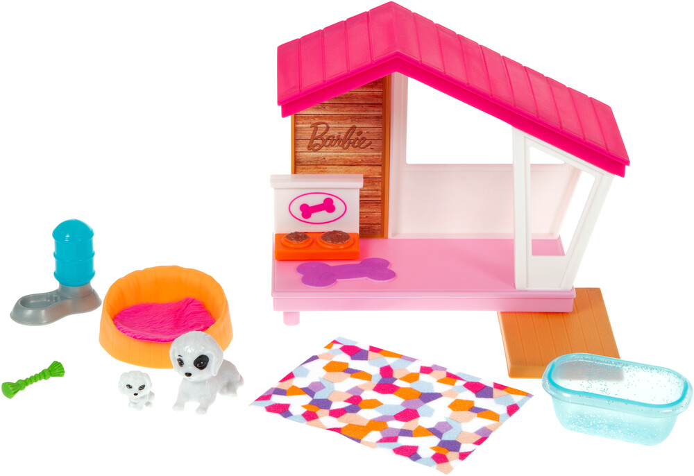 - Mattel - Barbie Doghouse and Pet Mini Playset