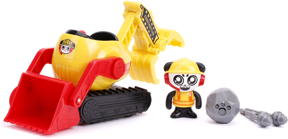 - Ryan's World 6 Combo Panda W/ Bulldozer (Fig)