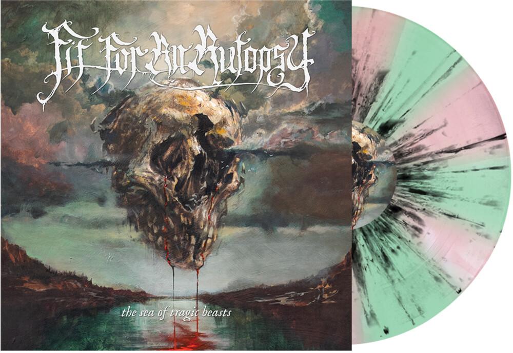 Fit For An Autopsy - Sea of Tragic Beasts (Mint Green & Pink w/ Black Splatter)