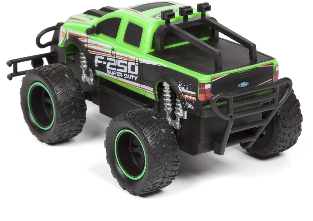 Friction Vehicles - 1:24 Ford F-250 Super Duty Friction Truck (One random color per transaction. Colors green, blue or red.)