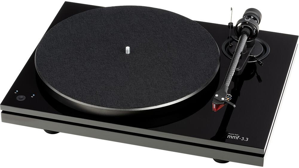 - Music Hall Audio mmf-3.3 Dual-Plinth Belt Drive 3 Speed TurntableW/Ortofon 2M red cartridge Piano Black
