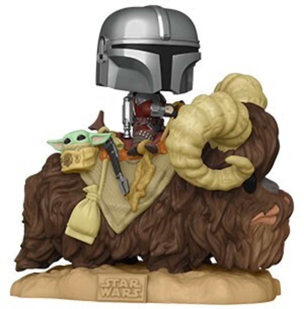 Funko Pop! Deluxe: - FUNKO POP! DELUXE: Star Wars: The Mandalorian on Bantha w/The Child in Bag