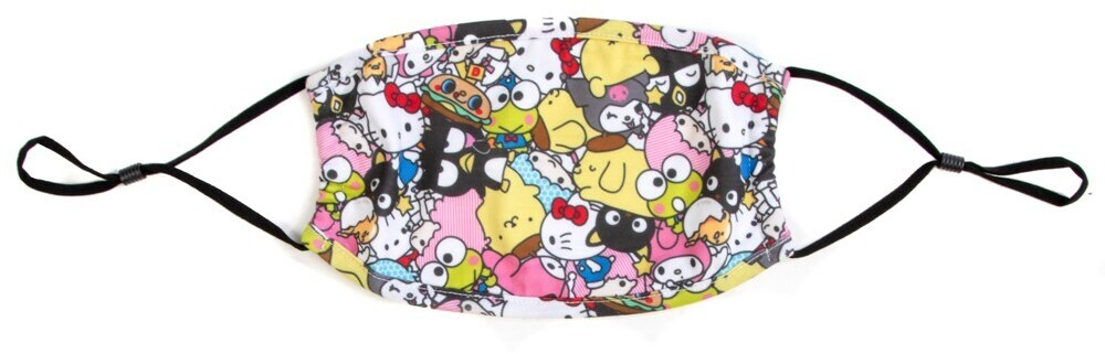 Hello Kitty & Friends Aop Adjustable Face Cover - Hello Kitty & Friends All Over Print Adult Size Adjustable Face Cover