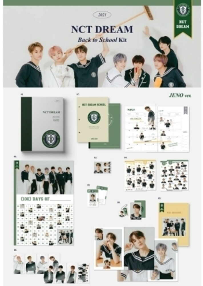 NCT Dream - 2021 NCT Dream Back To School Kit (Jeno Version) (incl. 100 DaysChallenge Poster, Mini Brochure, 80pg Notepa, Clear Bookmark Set