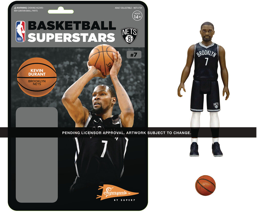 NBA Reaction Figure - Kevin Durant (Nets) - Super7 - NBA ReAction Figure - Kevin Durant (Nets)