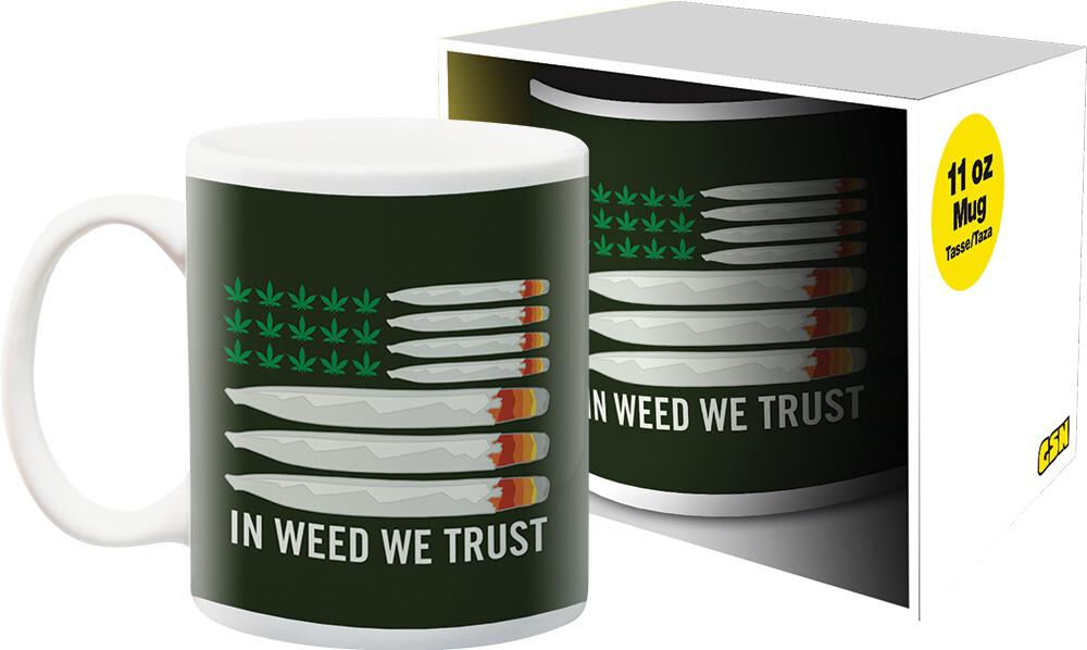 Weed in Weed We Trust 11Oz Boxed Mug - Weed In Weed We Trust 11oz Boxed Mug