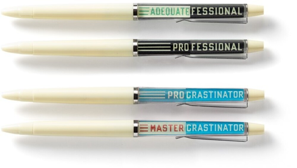 - Professional Procrastinator Floaty Pen Set: Two unique vintage-inspired floaty pens