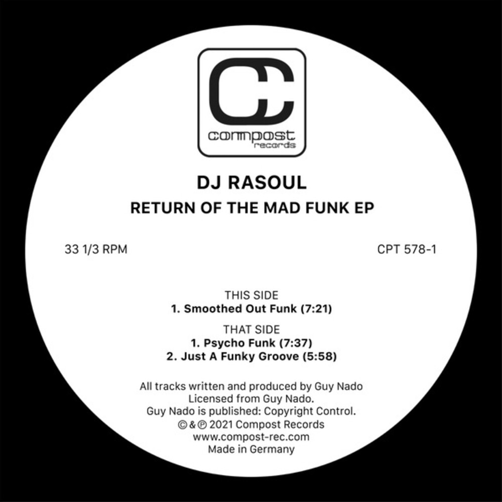 DJ Rasoul - Return Of The Mad Funk (Ep)