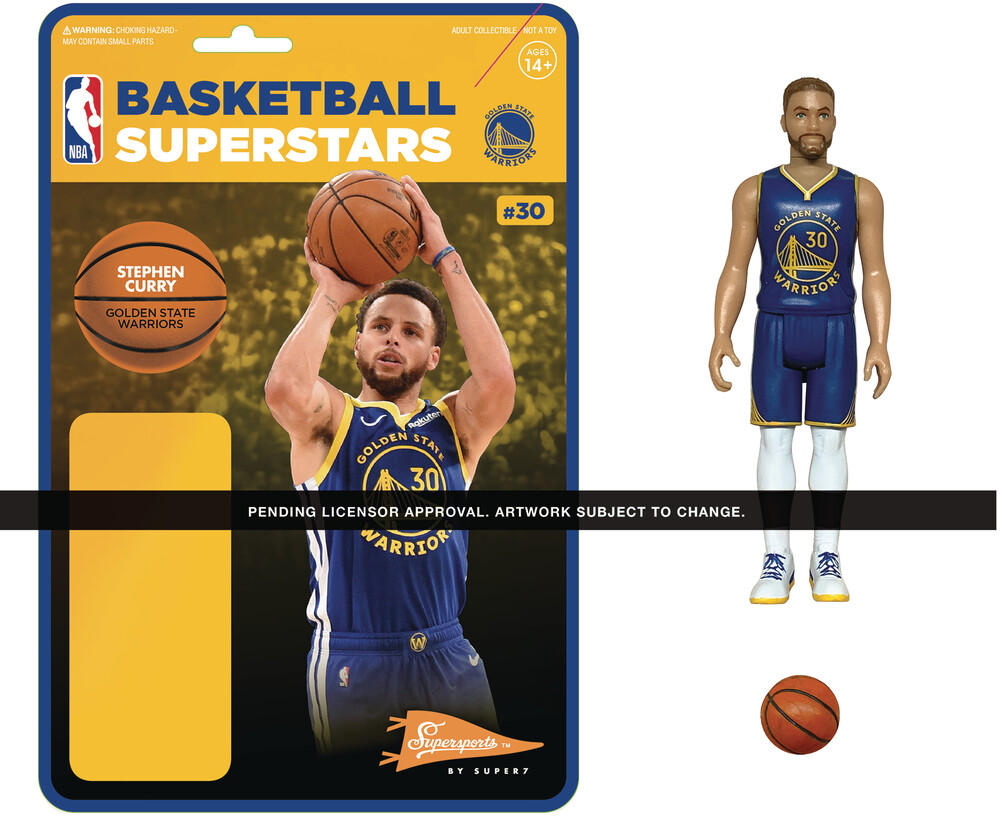NBA Reaction Figure - Steph Curry (Warriors) - Super7 - NBA ReAction Figure - Steph Curry (Warriors)