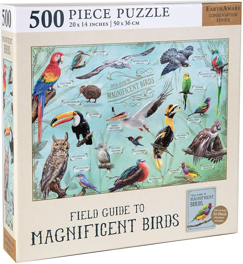 InSights - Field Guide To Magnificent Birds 500 Pieces