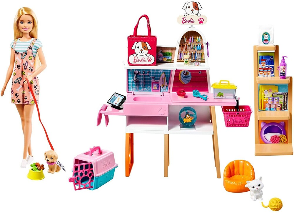- Mattel - Barbie and Pet Boutique Playset