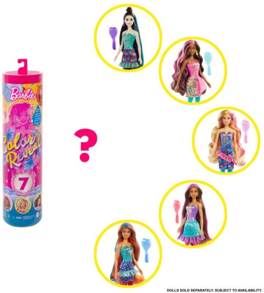Barbie - Mattel - Barbie Color Reveal Doll, One Surprise Color Reveal with Each Transaction