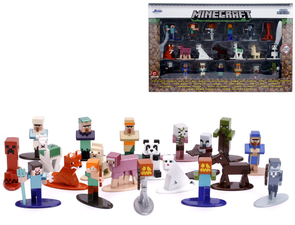 - Nano Metalfigs Minecraft 20 Pk Wave 3 (Clcb) (Fig)