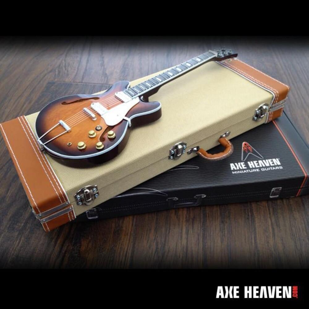 - Axe Heaven Mini Guitar Vintage Tweed Guitar Case