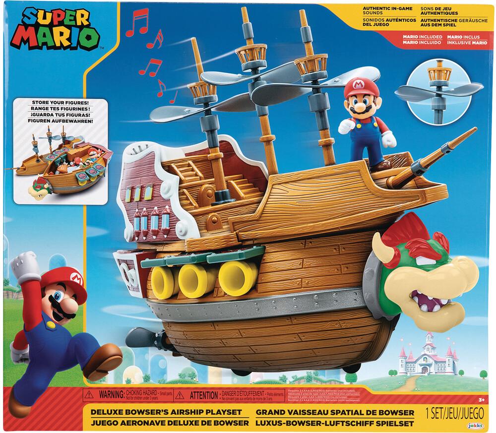 - Super Mario Dlx Bowser Ship Playset Cs (Net)