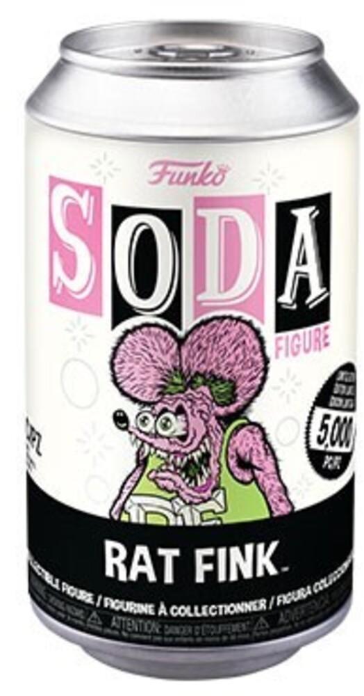 Funko Vinyl Soda: - Rat Fink- Neon Rat Fink (Vfig) (Chv)