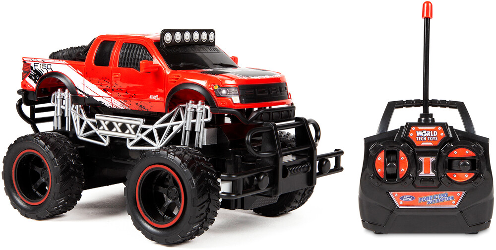 Rc Vehicles - 1:24 Officially Trail Attack Ford F150 SVT Raptor Electric RC Truck (One random color per transaction. Colors red, blue or green