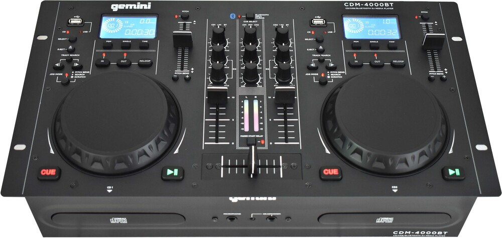 - Gemini CDM-4000BT Dual CD/USB Media Player With Bluetooth Wireless Input CD/MP3/USB Mixer Combo Player (Black)