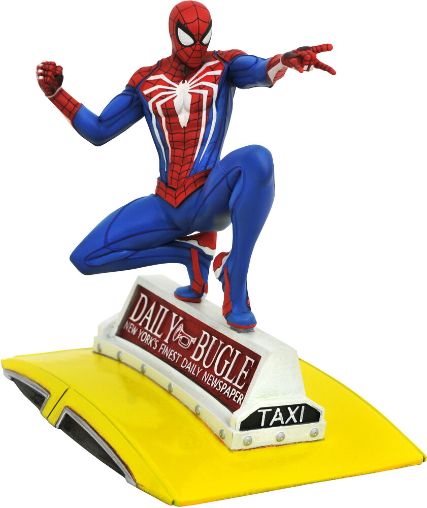 Diamond Select - Diamond Select - Marvel Gallery PS4 Spider-Man On Taxi Statue
