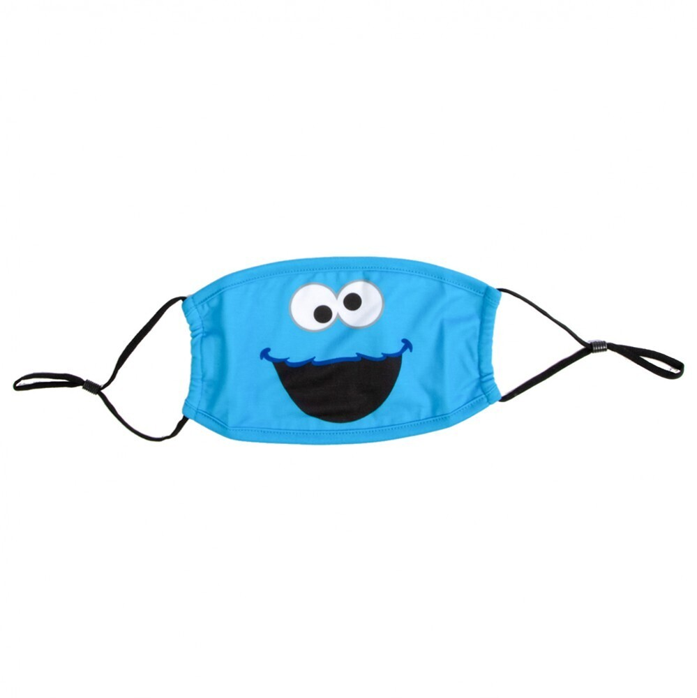 Sesame Street Cookie Monster Adult Face Cover - Sesame Street Cookie Monster Bigface Adult Size Adjustable Face Cover