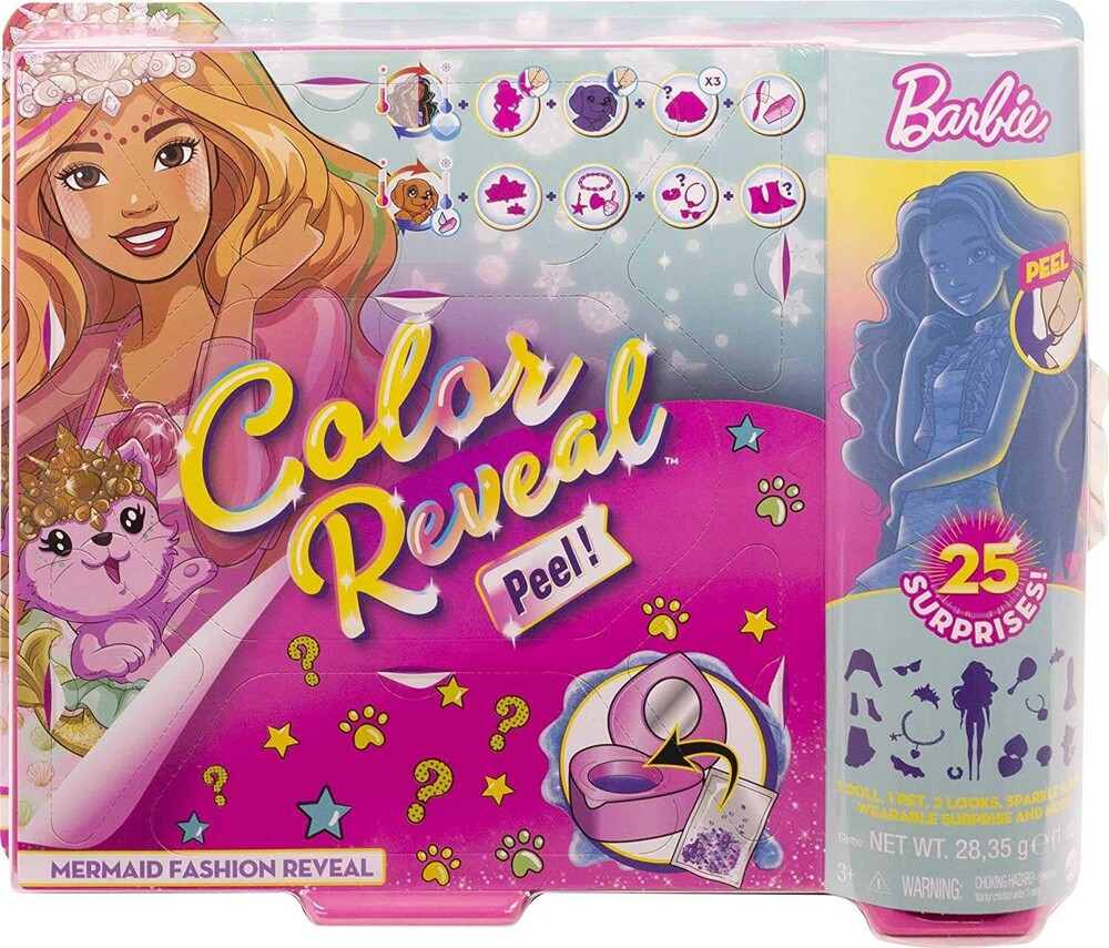 Barbie - Mattel - Barbie Ultimate Color Reveal Fantasy Fashion Mermaid, One Surprise Color Reveal with Each Transaction