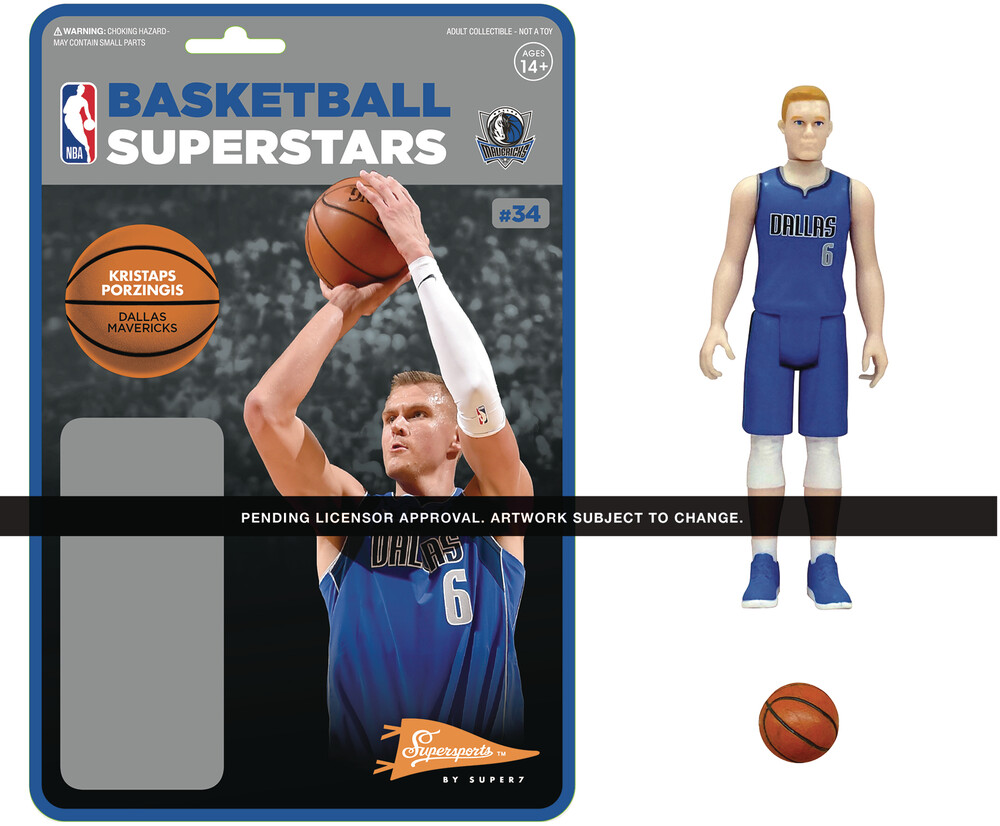NBA Reaction Figure Kristaps Porzingis (Mavericks) - Super7 - NBA ReAction Figure - Kristaps Porzingis (Mavericks)