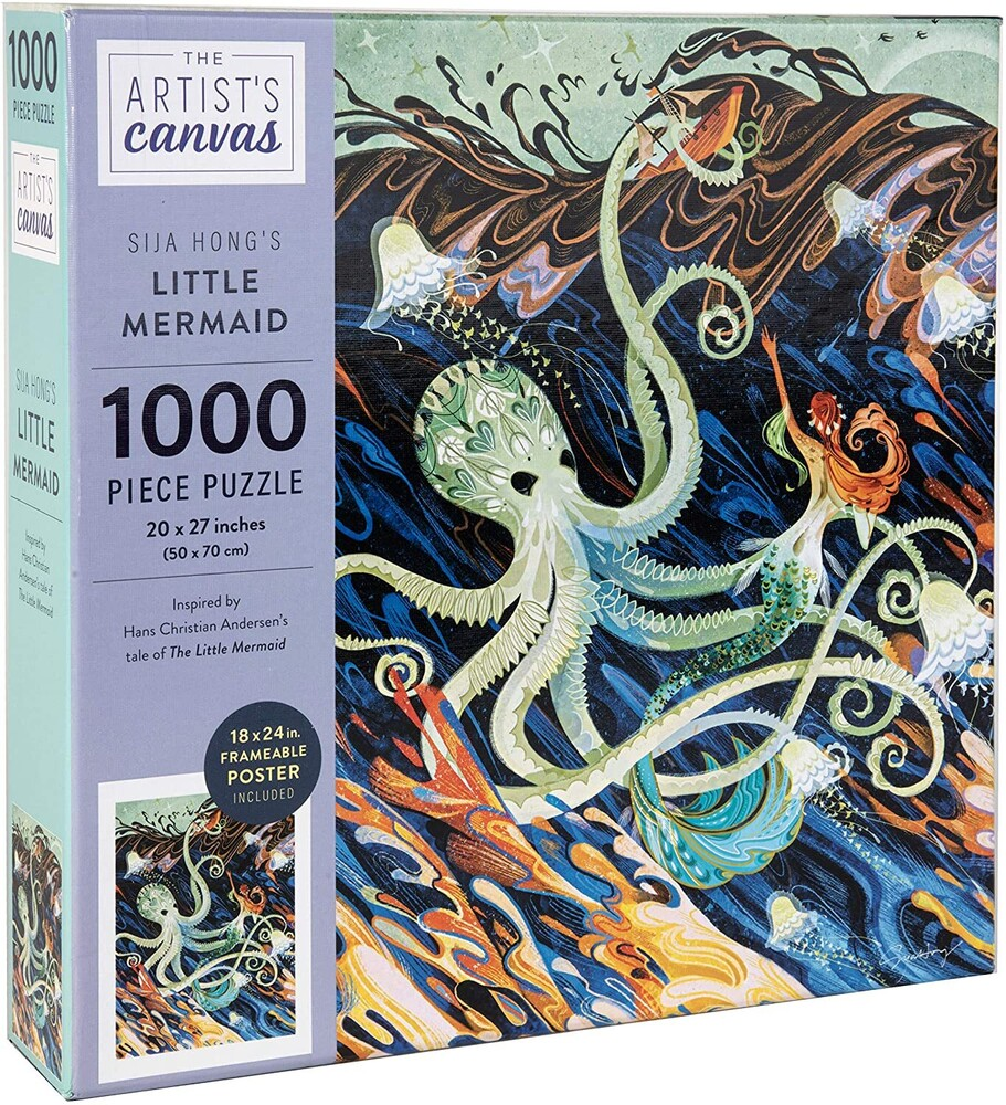 Hong, Sija - Jigsaw Puzzle The Artist's Canvas: Little Mermaid by Sija Hong, 1,000Pieces, 20 x 27 - with Exclusive Book