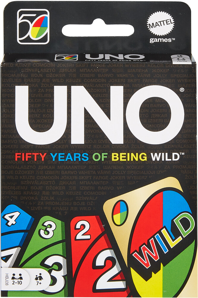 - Mattel Games - UNO 50th Anniversary Edition, Wild Card