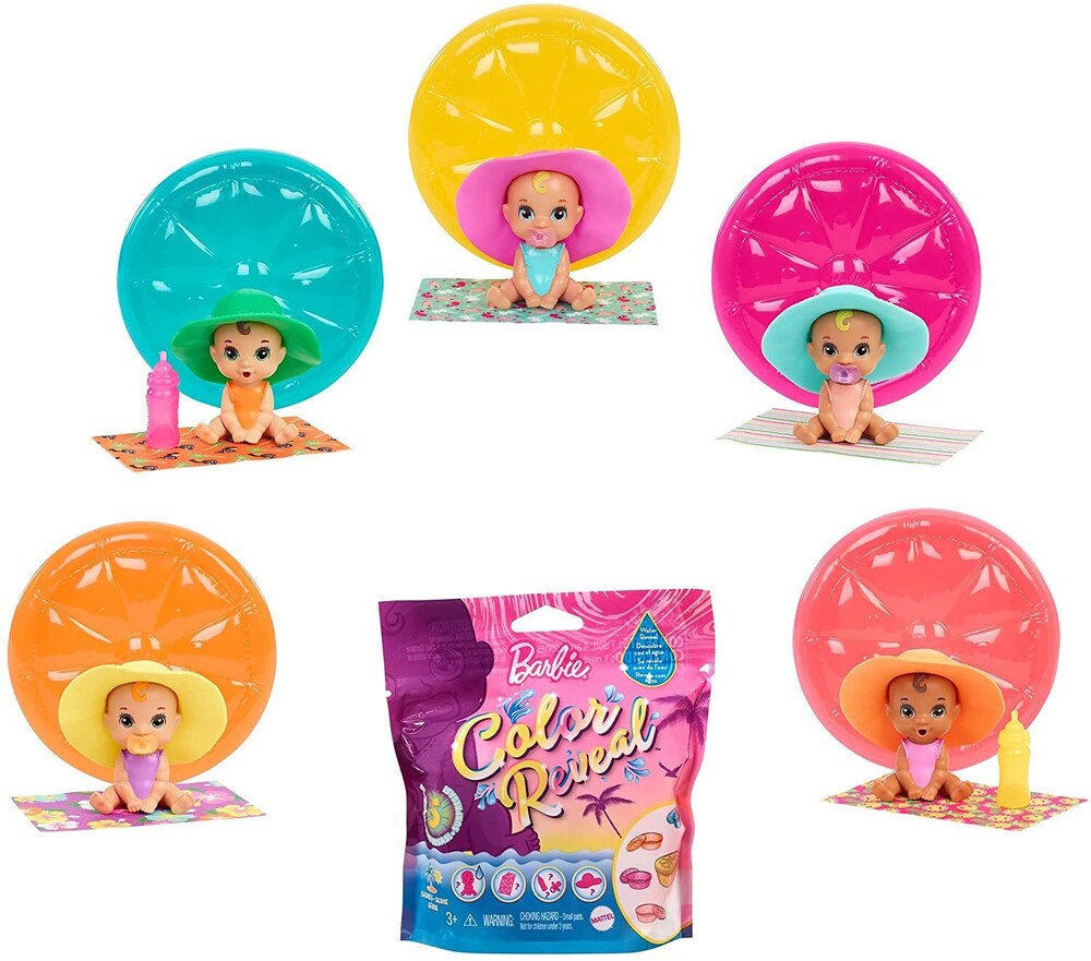 - Mattel - Barbie Color Reveal Baby, One Surprise Color Reveal with Each Transaction