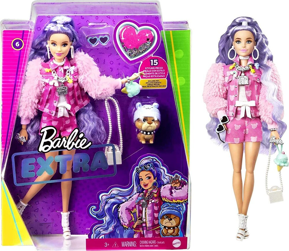 Barbie - Mattel - Barbie Extra Doll, Millie with Periwinkle Hair