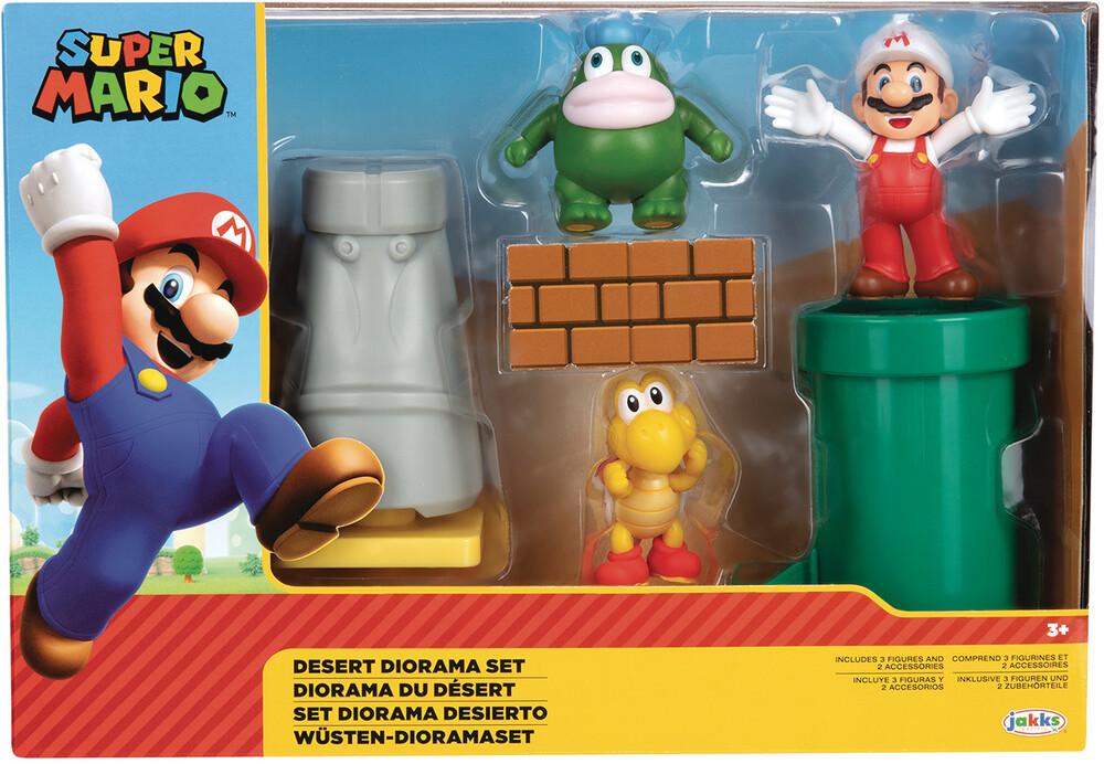 - Nintendo Mario 2-1/2in Desert Diorama Set Cs (Net)